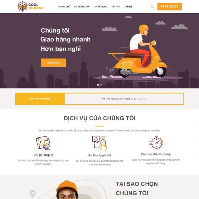 Mẫu web chuẩn SEO vanchuyen